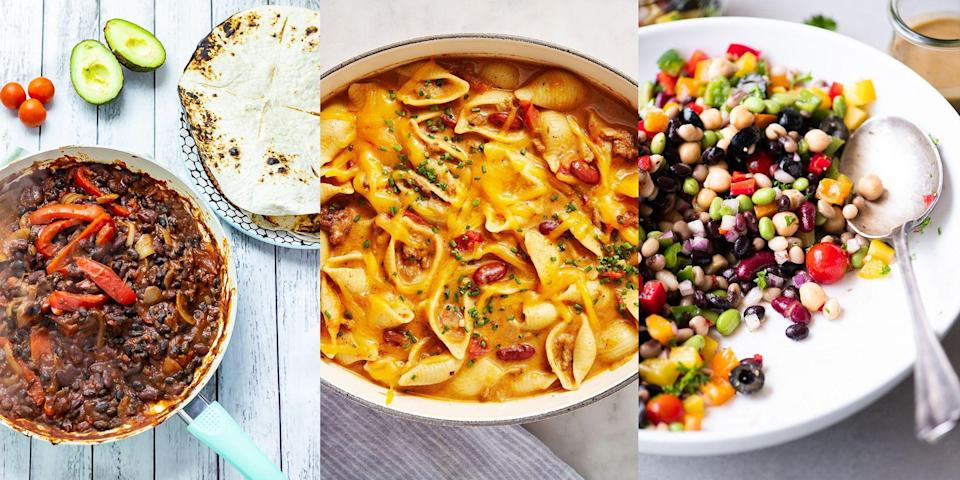 """<p>We. Love. Kidney. Beans. We love them in <a href=""""https://www.delish.com/uk/cooking/recipes/g31223655/best-chilli-recipes/"""" rel=""""nofollow noopener"""" target=""""_blank"""" data-ylk=""""slk:chillis"""" class=""""link rapid-noclick-resp"""">chillis</a>, we love them in <a href=""""https://www.delish.com/uk/cooking/recipes/g33443935/best-soup-recipes/"""" rel=""""nofollow noopener"""" target=""""_blank"""" data-ylk=""""slk:soups"""" class=""""link rapid-noclick-resp"""">soups</a> and we love them in <a href=""""https://www.delish.com/uk/cooking/recipes/g32997531/summer-salads/"""" rel=""""nofollow noopener"""" target=""""_blank"""" data-ylk=""""slk:salads"""" class=""""link rapid-noclick-resp"""">salads</a>. They're practically the definition of versatile, and they're so good for you too! But, we get it. When you've not got much else in other than a tin of kidney beans, it can be tough thinking up ways to make a delicious-tasting meal. </p><p>Luckily for you, we've got 14 easy kidney bean recipes. And we promise you're going to love them. Whether it's <a href=""""https://www.delish.com/uk/cooking/recipes/a28886316/best-homemade-chilli-recipe/"""" rel=""""nofollow noopener"""" target=""""_blank"""" data-ylk=""""slk:Beef Chilli"""" class=""""link rapid-noclick-resp"""">Beef Chilli</a> or <a href=""""https://theviewfromgreatisland.com/rainbow-bean-salad-with-sweet-and-sour-dressing-recipe/"""" rel=""""nofollow noopener"""" target=""""_blank"""" data-ylk=""""slk:Rainbow Bean Salad"""" class=""""link rapid-noclick-resp"""">Rainbow Bean Salad</a>, you're bound to find something worth making. </p>"""