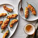 <p>The perfect football-party food, classic jalapeño poppers get a crispy upgrade in an air fryer. Cream cheese tempers the just-right hint of heat from the pepper and Buffalo sauce. To save time, you can stuff the peppers ahead of the party and fry them just before serving.</p>