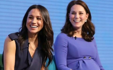 The Duchess of Cambridge and the Duchess of Sussex at the Royal Foundation Forum - Credit: Reuters