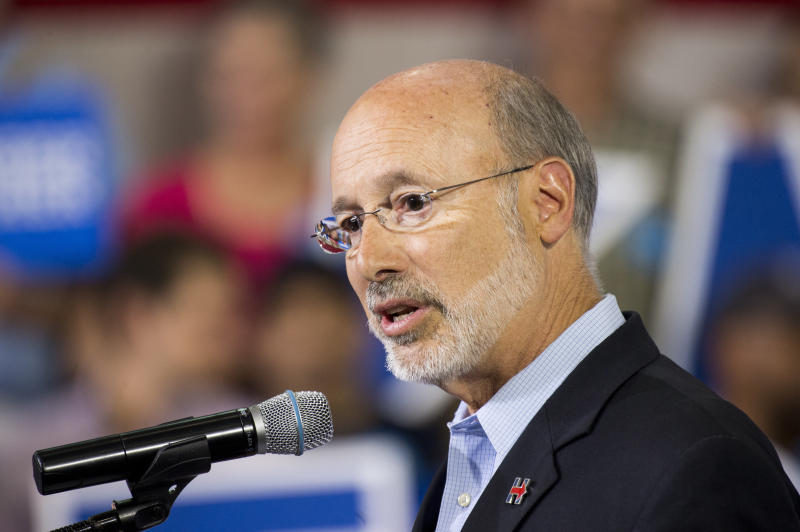 Gov. Tom Wolf made a severance tax a central campaign promise in 2013.  (Bill Clark via Getty Images)