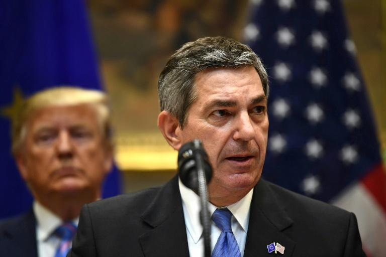 """Brussels is """"pushing"""" for reciprocity, the EU ambassador to the United States, Stavros Lambrinidis, told AFP"""