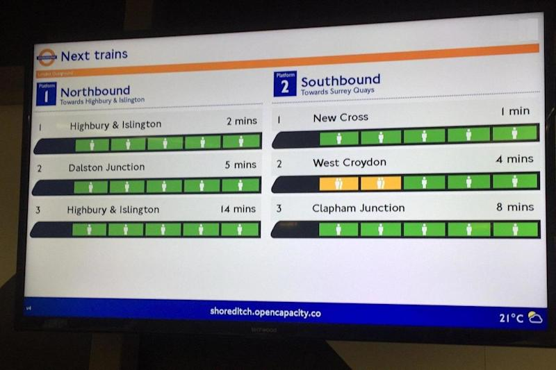 TfL is trialing the new technology at Shoreditch High Street (TfL)