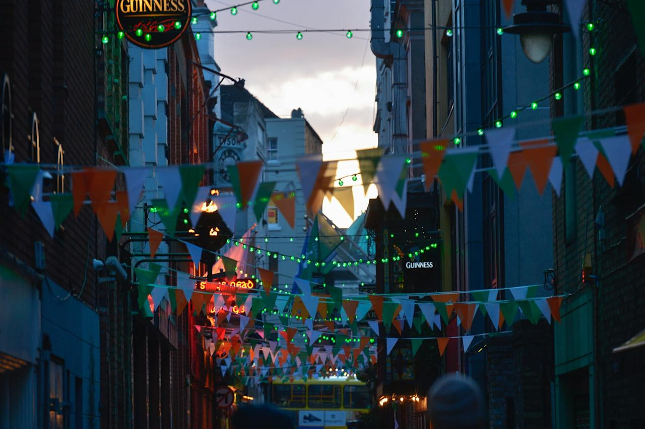 """<p>You might think that the 17th is the only day that matters, but the holiday is really celebrated all month long. The 2020 St. Patrick's Day Festival actually lasts from the <a href=""""http://stpatricksfestival.ie/about-the-festival"""" target=""""_blank"""" class=""""ga-track"""" data-ga-category=""""Related"""" data-ga-label=""""http://stpatricksfestival.ie/about-the-festival"""" data-ga-action=""""In-Line Links"""">Friday, March 13th, through Tuesday, March 17th</a>, in Dublin. For five days and nights, the city will celebrate St. Paddy's with fairs, live music, historic tours, treasure hunts, food festivals, poetry slams, and more, and you'll want to take advantage by arriving at least a few days before the 17th. Also, you know, to get rid of jet lag so you're ready to have fun!</p>"""