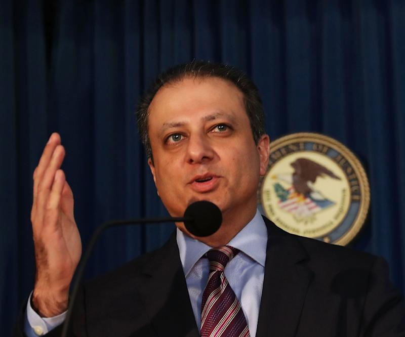 Preet Bharara, former US attorney for the Southern District of New York, pictured in 2016, was fired by President Donald trump after refusing to resign