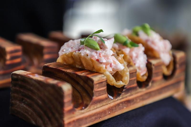 A lobster taco served at the Adachi booth during the Detroit Free Press Food and Wine Experience in Capital Park in downtown Detroit on Saturday, Sept. 14, 2019.