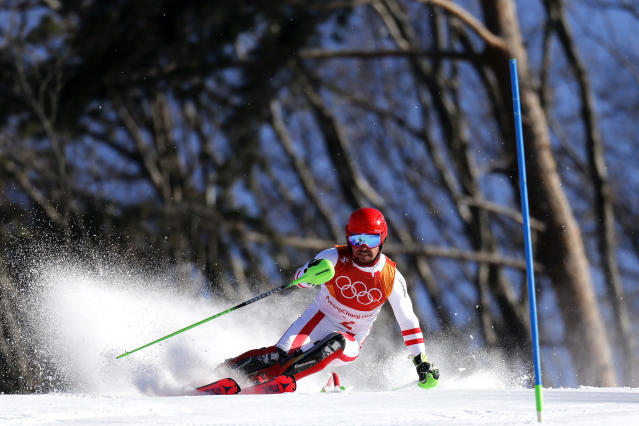 <p>Marcel Hirscher of Austria wins the gold medal during the Alpine Skiing Men's Combined at Jeongseon Alpine Centre on February 13, 2018 in Pyeongchang-gun, South Korea. (Photo by Alexis Boichard/Agence Zoom/Getty Images) </p>