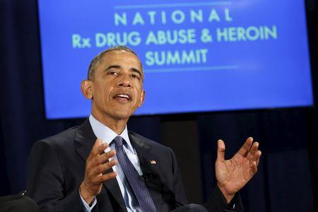Obama visits Atlanta to participate in a drug abuse summit