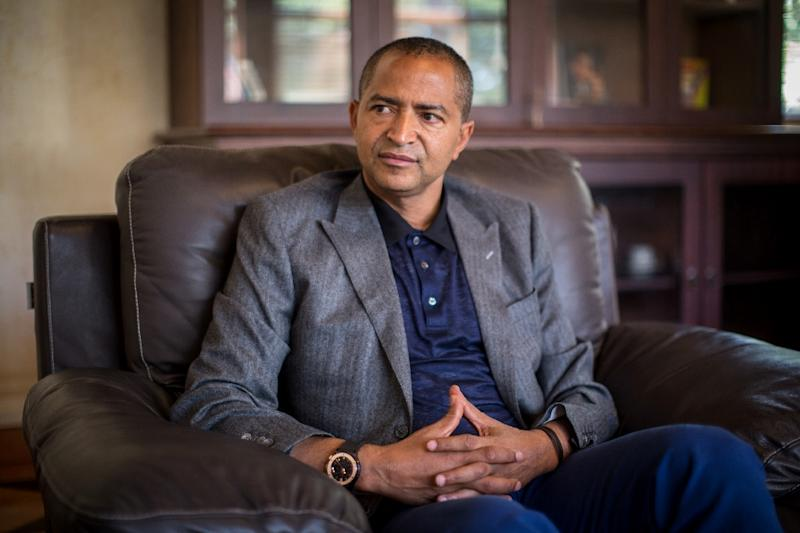 Governor of Democratic Republic of Congo's Katanga province Moise Katumbi Chapwe during an interview in Lubumbashi, DR Congo on June 2, 2015 (AFP Photo/Federico Scoppa)