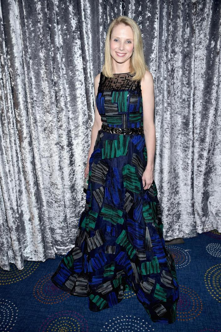 <p>Yahoo CEO Marissa Mayer attends the Yahoo News/ABC News White House Correspondents' Dinner pre-party at the Washington Hilton, April 30, 2016. <i>(Photo: Dimitrios Kambouris/Getty Images for Yahoo)</i></p>