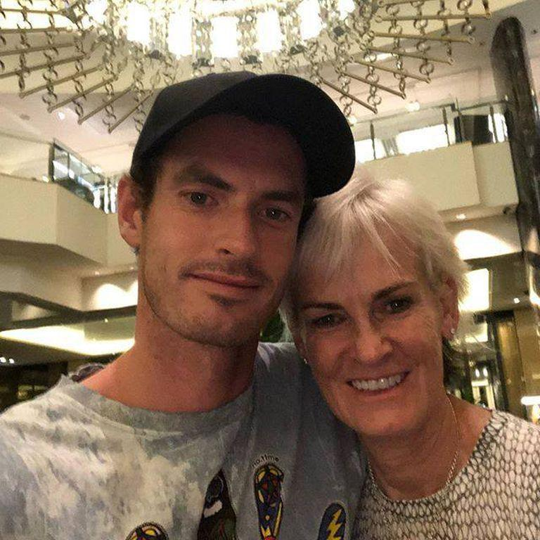 Andy with his mother, a major influence in his career