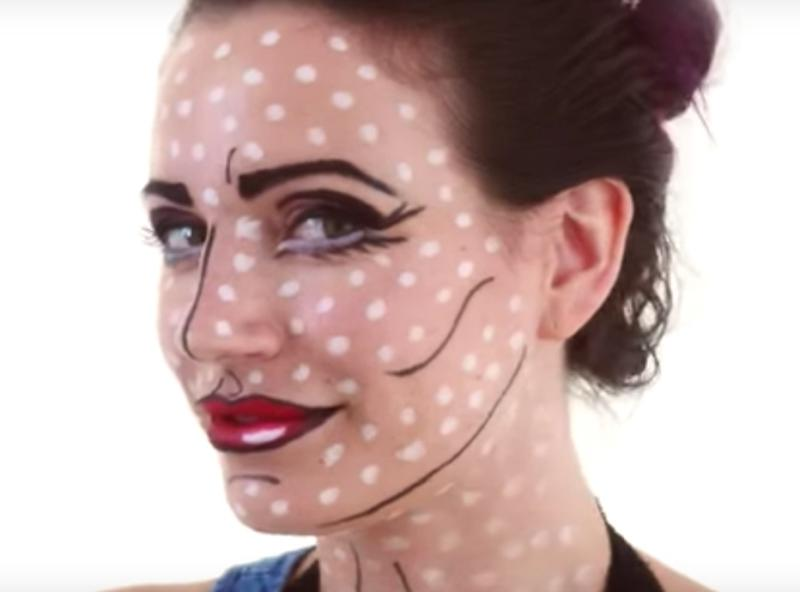 How to do Pop Art makeup for Halloween that looks so amazing, Lichtenstein would be proud