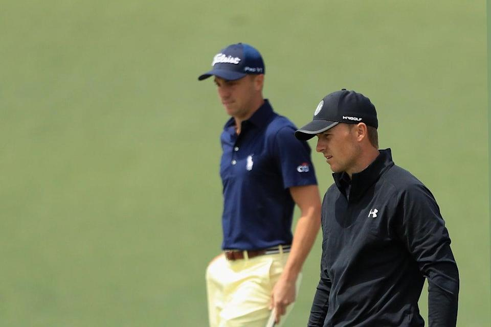 Jordan Spieth (right) and Justin Thomas have been paired once again by the United States  (Getty Images)