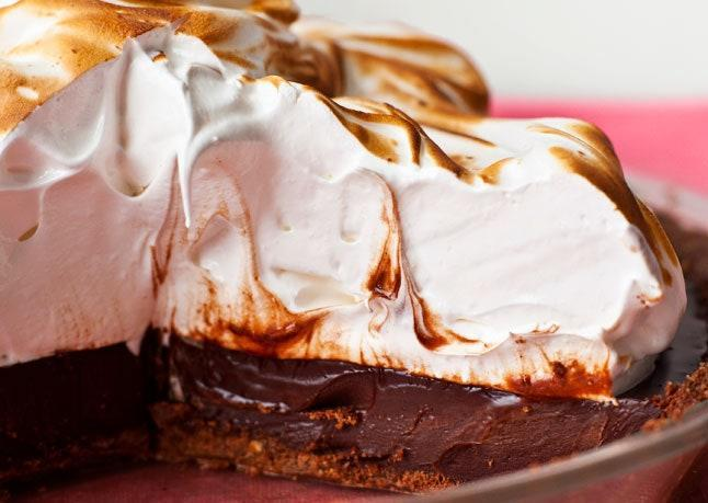 """It's like a cross between s'mores and tiramisu! <a href=""""https://www.bonappetit.com/recipe/coffee-s-mores-pie?mbid=synd_yahoo_rss"""" rel=""""nofollow noopener"""" target=""""_blank"""" data-ylk=""""slk:See recipe."""" class=""""link rapid-noclick-resp"""">See recipe.</a>"""