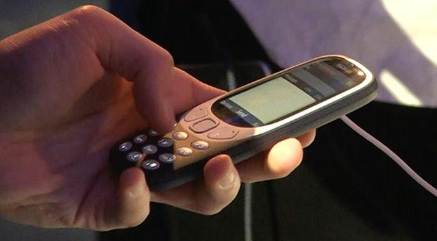 All eyes were on the new Nokia 3310 despite the more advanced offerings in Barcelona. Photo: 7 News