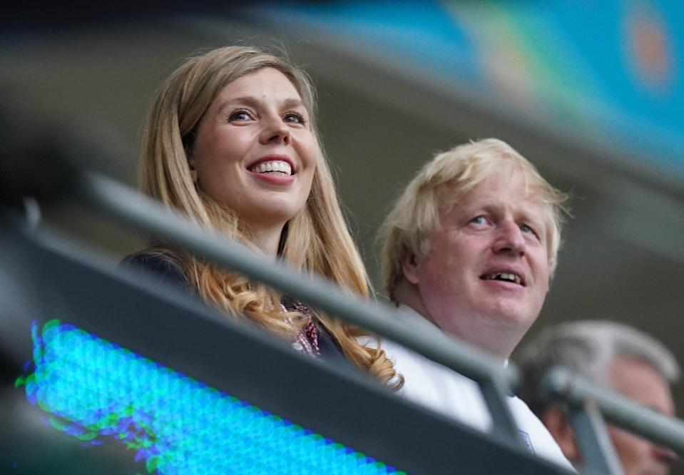Dominic Cummings has made claims that the Prime Minister's wife, Carrie Johnson, wanted rid of Vote Leave officials (Mike Egerton/PA) (PA Wire)