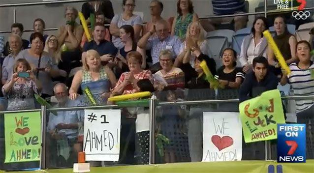 Support for Ahmed Kelly. Source: 7News