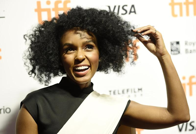 """Janelle Monae, a cast member in """"Hidden Figures,"""" poses at a photo call for the film on day 3 of the Toronto International Film Festival at the TIFF Bell Lightbox on Saturday, Sept. 10, 2016, in Toronto. (Photo by Chris Pizzello/Invision/AP)"""
