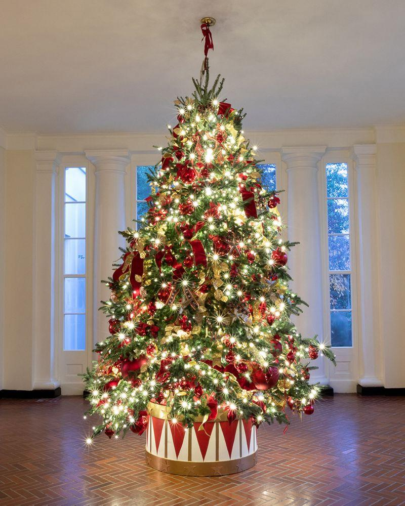 The 2019 White House Christmas decorations by First Lady Melania Trump   Official White House Photo by Andrea Hanks