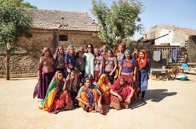 Anita Dongre with the artisans who help make Anita Dongre the brand it is today. (Photo: Courtesy of Anita Dongre)