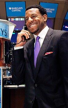 Andre Iguodala spent part of his internship at the New York Stock Exchange