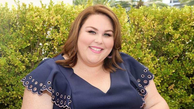 Chrissy metz gets ready for the emmys with et while for Exclusive metz