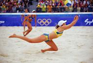 """<p>While there are no options beyond the bikini, if <a href=""""https://www.bustle.com/articles/171814-what-is-the-2016-olympic-beach-volleyball-dress-code-heres-how-the-rules-have-changed"""" rel=""""nofollow noopener"""" target=""""_blank"""" data-ylk=""""slk:beach volleyball"""" class=""""link rapid-noclick-resp"""">beach volleyball </a>players choose to wear one, the sides of the bottom can't be any wider than 7 centimeters. </p>"""