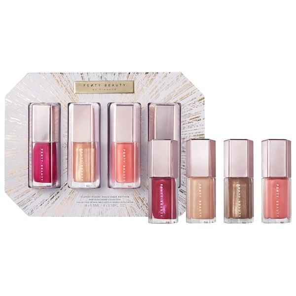 <p>Now's your chance to save even more on four lil' limited-edition glosses in this <span>Fenty Beauty by Rihanna Glossy Posse Mini Gloss Bomb Set: Holo'Daze Edition</span> ($26, originally $36).</p>