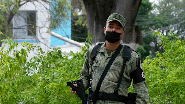 Mexico's National Guard are now guarding hospitals