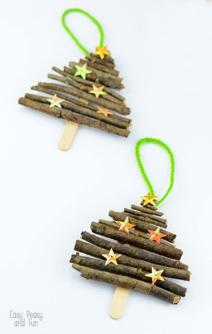 """<p>Turn a few twigs from your yard and some popsicle sticks from your freezer into tree ornaments. Buy a few star-shaped sequins to use as ornaments and give the whole craft a shimmer.</p><p>Get the tutorial at <a href=""""https://www.easypeasyandfun.com/popsicle-stick-and-twigs-christmas-tree-ornaments/"""" rel=""""nofollow noopener"""" target=""""_blank"""" data-ylk=""""slk:Easy Peasy and Fun"""" class=""""link rapid-noclick-resp"""">Easy Peasy and Fun</a>.</p>"""