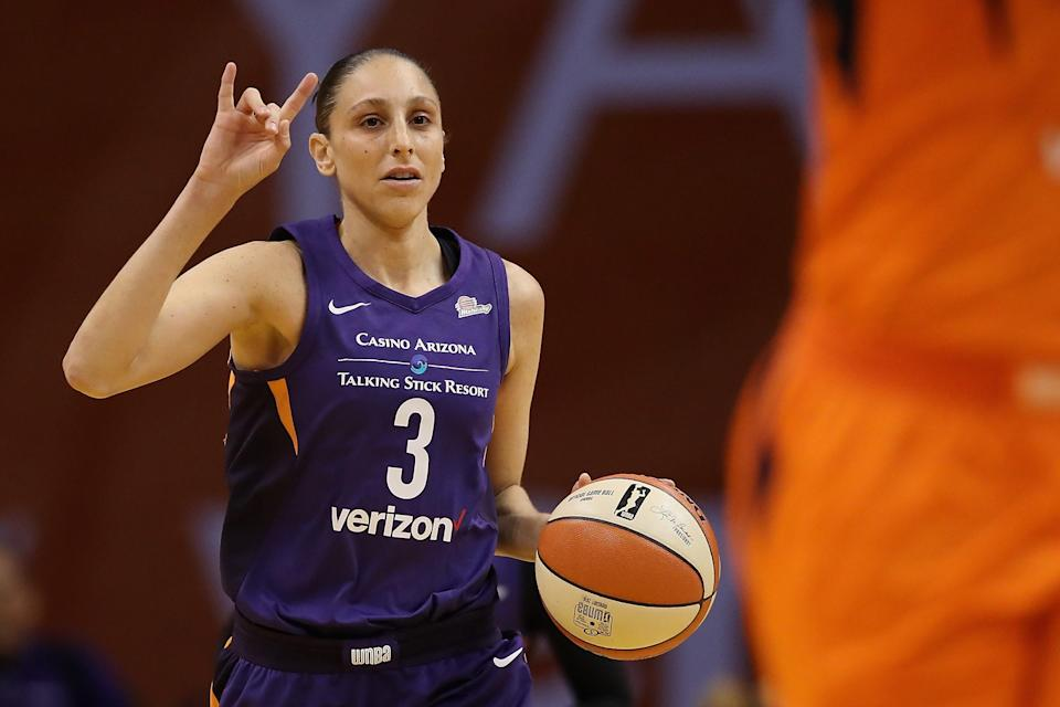 Phoenix Mercury guard and WNBA veteran Diana Taurasi has been suspended for one game after picking up her seventh technical foul this season. (Getty Images)