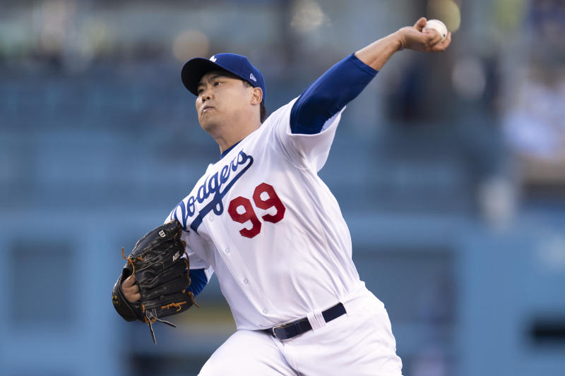 Los Angeles Dodgers starting pitcher Hyun-Jin Ryu has been great about keeping the ball in the ballpark this season. (Photo by Kyusung Gong/Icon Sportswire via Getty Images)