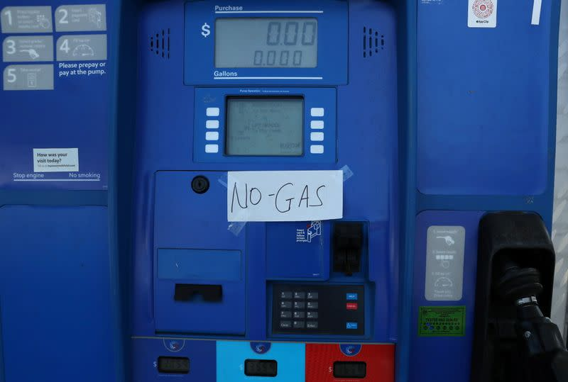 A lack of gasoline at a gas station in Washington, D.C.
