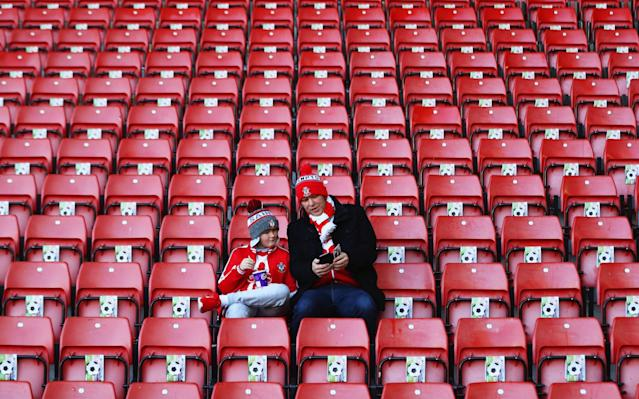 <p>Fans arrive early for the St Mary's clash to kick off Super Sunday </p>