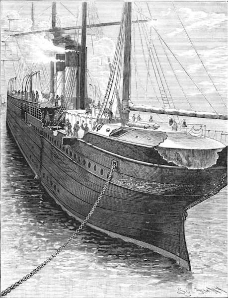 Damage sustained by the Britannic