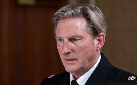 Adrian Dunbar as Hastings - Credit: World Productions Ltd