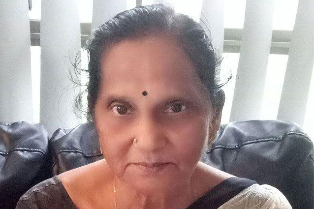 Venkata Lakshmi hadn't realised her bag was going to cause such a scare. Source: Supplied