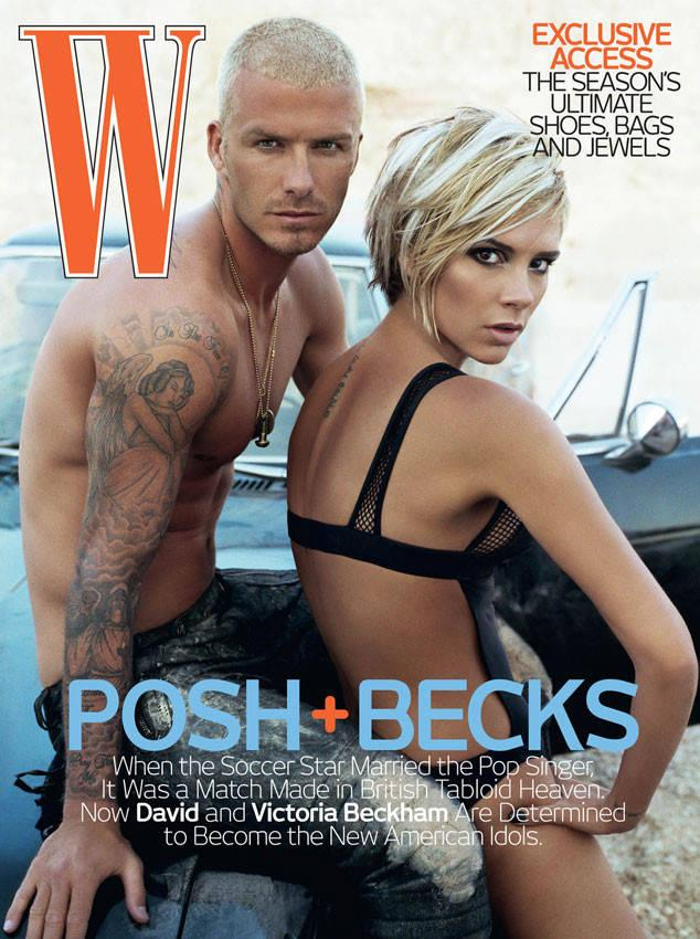 <p>Joining forces with Klein once again just four years later, a newly blonded Posh and Becks took to the Los Angeles desert for yet another steamy cover shoot for <em>W Magazine</em>. [Photo:Steven Klein/ W Magazine] </p>