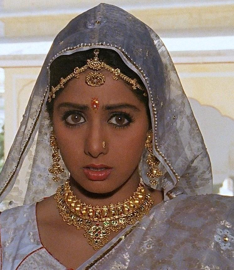 <p>Sridevi was gorgeous in her natural Indian warm skin tone. But as the years passed her complexion grew lighter and lighter. It could be due to better skin care, but many reports hint towards skin lightening procedures also. </p>
