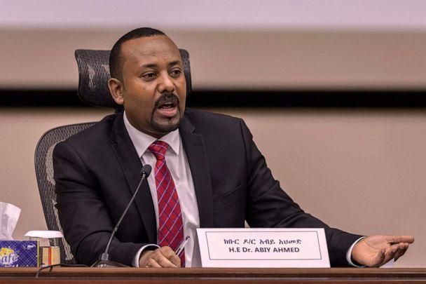 PHOTO: Ethiopia's Prime Minister Abiy Ahmed responds to questions from members of parliament at the prime minister's office in Addis Ababa, Ethiopia, Nov. 30, 2020. (Mulugeta Ayene/AP)