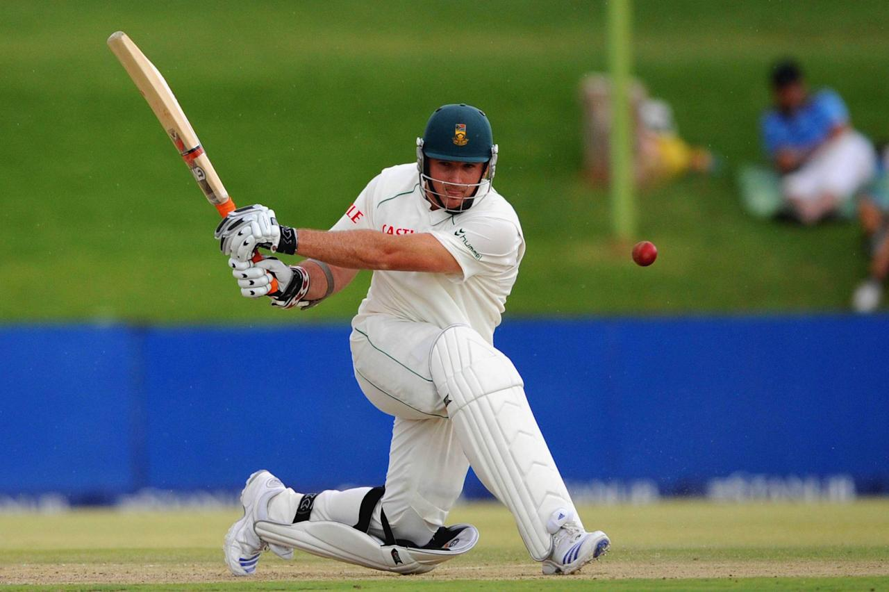 BLOEMFONTEIN, SOUTH AFRICA - NOVEMBER 19:   Graeme Smith of South Africa in action during day one the first test match between South Africa and Bangladesh held at the Outsurance Oval on November 19, 2008 in Bloemfontein, South Africa.  (Photo by Lee Warren/Gallo Images/Getty Images)