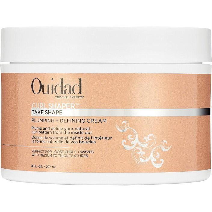 """<p><strong>Ouidad</strong></p><p>amazon.com</p><p><strong>$26.00</strong></p><p><a href=""""https://www.amazon.com/dp/B08HSF448N?tag=syn-yahoo-20&ascsubtag=%5Bartid%7C10051.g.36740831%5Bsrc%7Cyahoo-us"""" rel=""""nofollow noopener"""" target=""""_blank"""" data-ylk=""""slk:Shop Now"""" class=""""link rapid-noclick-resp"""">Shop Now</a></p><p>Your girls want to become perfect spirals, so let them! This shaping cream gives them the moisture that most curls lack, while offering volume and definition.</p>"""