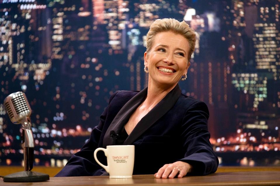 Emma Thompson called out Hollywood's double standard of men getting a pass to star opposite someone much younger than them, while women don't.