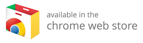 Screenshot reading 'Available in the Chrome Web Store'
