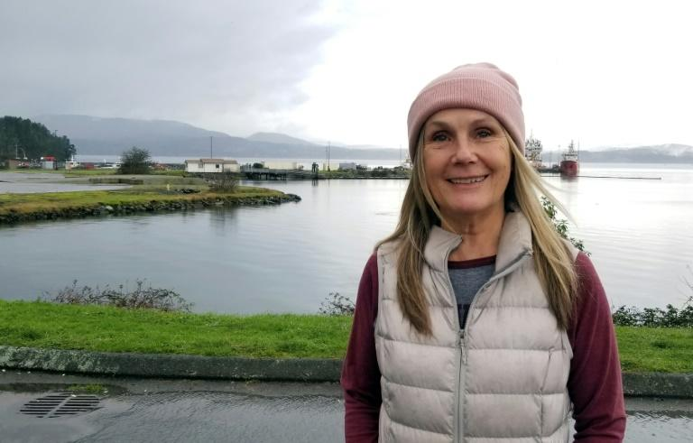 Kathryn Sandberg, a resident of North Saanich on Vancouver Island, says she hopes people will remain respectful of Harry and Meghan's privacy while the couple lives in the area (AFP Photo/Alia DHARSSI)