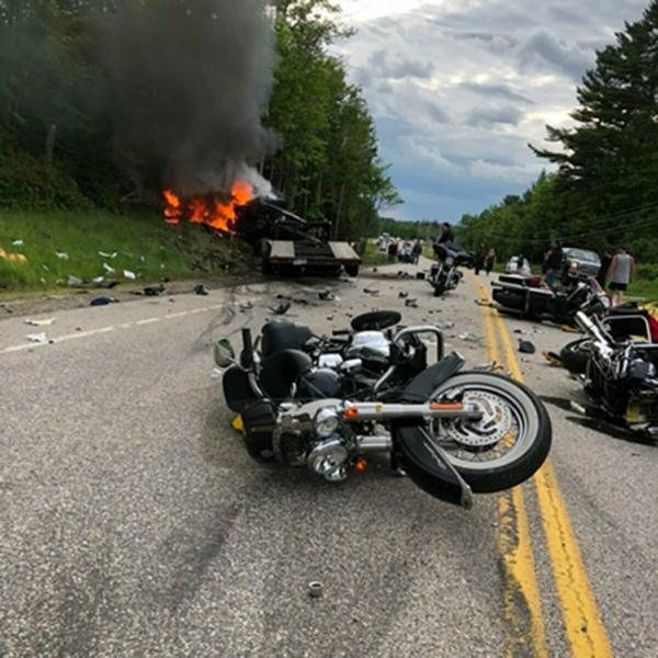 Driver pleads not guilty in motorcycle crash that killed 7