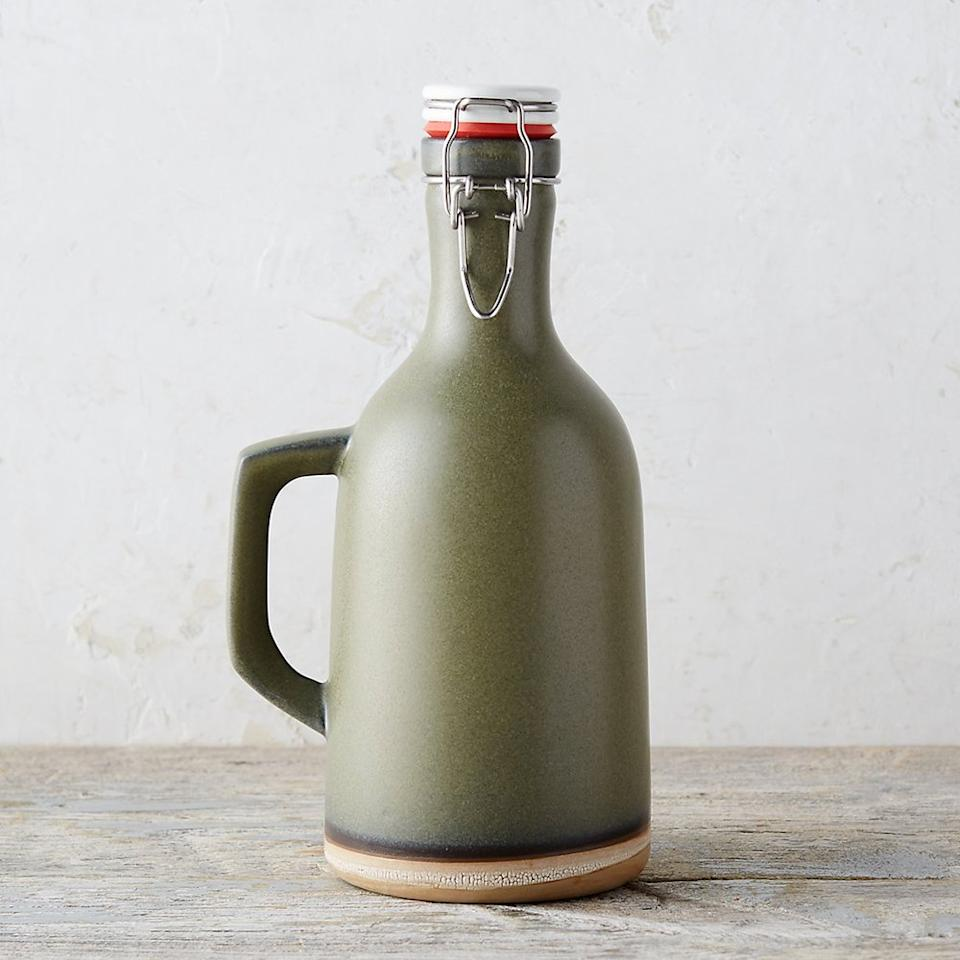 "<p>For the guy who loves a good tailgate and an even better brew, this sleek, game day-approved growler is the perfect space to stash his drink of choice. Each 64-ounce stoneware growler is glazed by hand, and its flip-top ceramic lid allows you to pour and party with ease.</p> <p><strong>To buy: </strong>$98; <a href=""http://www.anrdoezrs.net/links/7876406/type/dlg/sid/RS%2CBoyfriendGiftIdeasforEveryTypeofGuy%2Ctrowley805%2CGIF%2CIMA%2C627269%2C201812%2CI,GIFTGUIDE/https://www.shopterrain.com/fall-preview/stoneware-growler/"" target=""_blank"">shopterrain.com</a>.</p>"