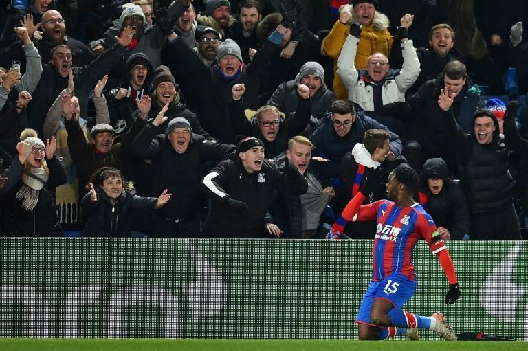 Crystal Palace's Jeffrey Schlupp celebrates his winning goal against Bournemouth