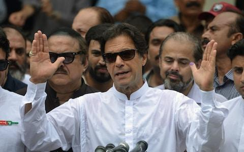 Imran Khan welcomed the court's decision - Credit: AFP