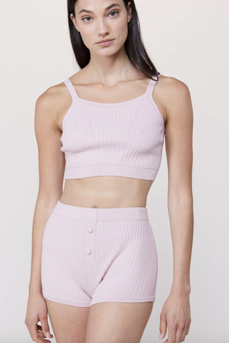 """<p><span>Live the Process Knit Crop Bralette</span> ($88) and <span>Knit Boy Short</span> ($128) </p> <p>""""Crafted in the softest knit fabric, Live the Process creates live-in-worthy loungewear that would please anyone on your list."""" - HWM </p>"""