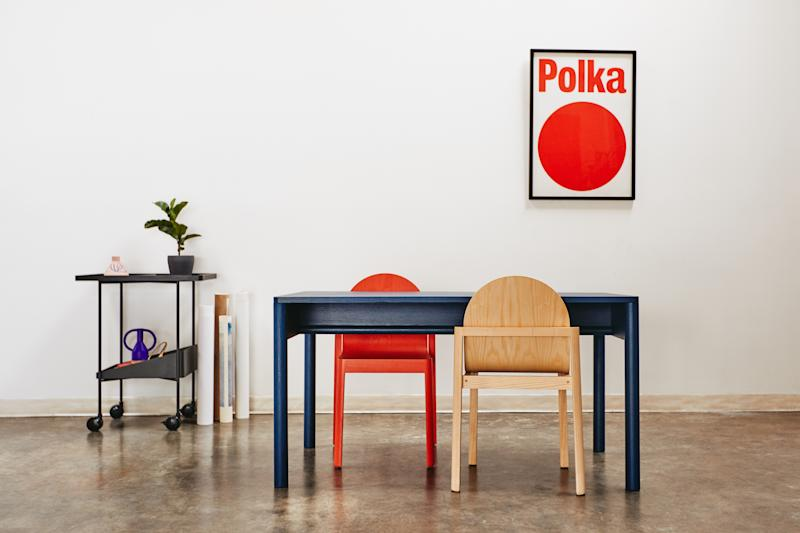 A collection of Dims. furniture.